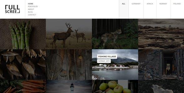 FULLSCREEN – Photography Portfolio HTML5 with Shop