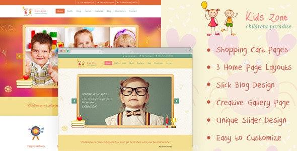 Kids Zone   Childern PSD - Children Retail