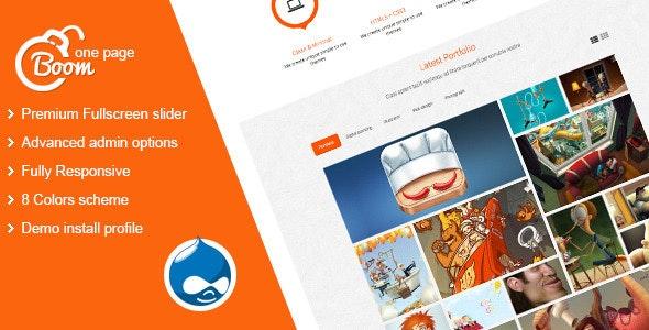 Boom - Responsive Onepage Drupal Theme - Portfolio Creative