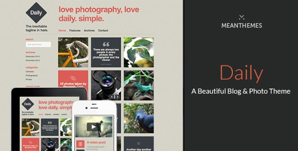 Daily - A Beautiful WordPress Blog & Photo theme - Personal Blog / Magazine