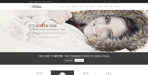 Wisten One Page PSD Theme