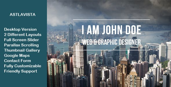 Full Screen Portfolio Full Screen Slider and Parallax