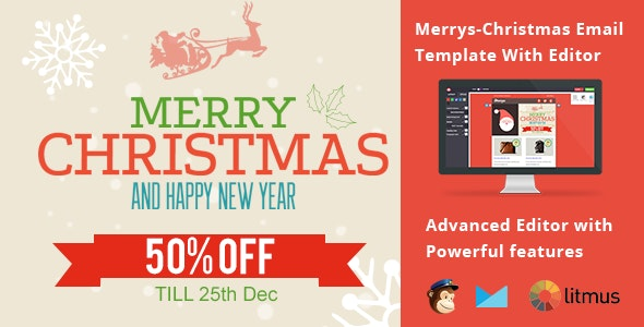 Merrys-Christmas Email Template with Editor - Newsletters Email Templates