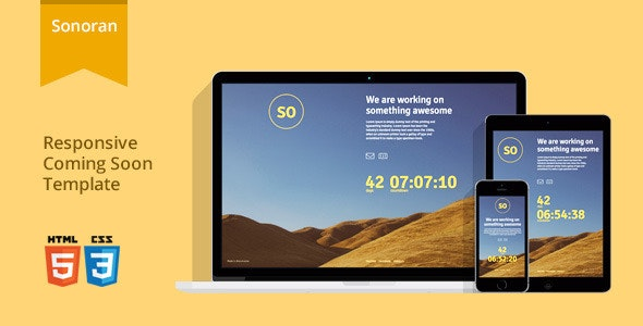 Sonoran - Responsive Coming Soon Template - Under Construction Specialty Pages
