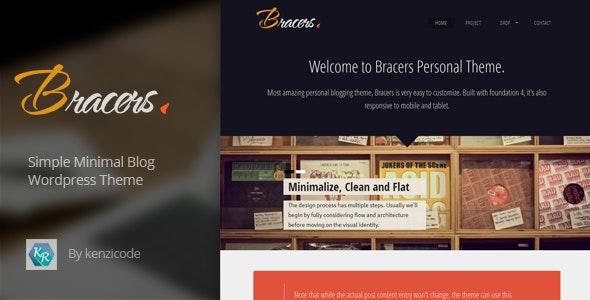 Bracers Personal - Minimal Blog Wordpress Theme - Personal Blog / Magazine