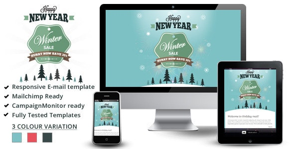 Winter Sale – Responsive Email Templates - Email Templates Marketing