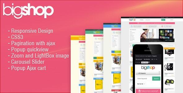 Responsive HTML Theme - BigShop - Electronics Technology