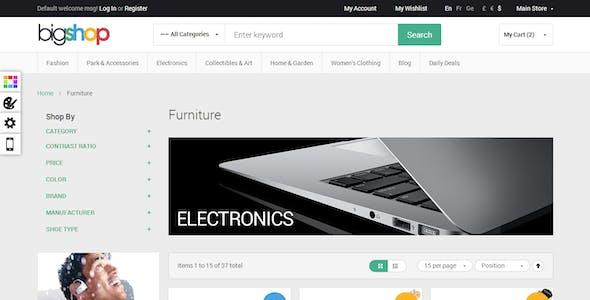 Responsive HTML Theme - BigShop