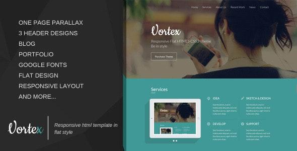 Vortex - Responsive One Page Template  - Portfolio Creative