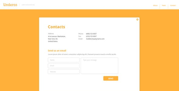 Underco - Responsive HTML5 coming soon page
