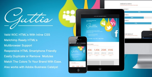 Guttis - Responsive Email Newsletter Template - Newsletters Email Templates