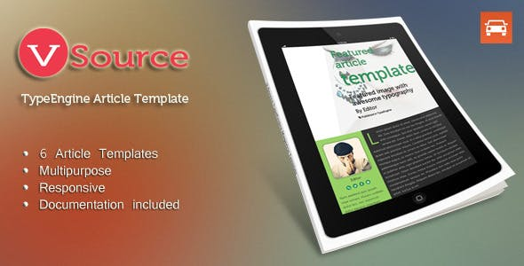 Download V - Source Multipurpose TypeEngine Theme
