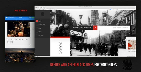 Before And After Black Times Theme For WordPress  - Creative WordPress