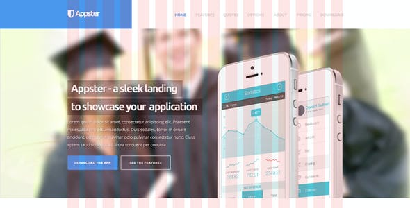 Appster - Ultimate App Landing Page Psd Template