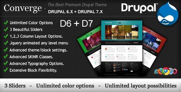 Converge - The Best Premium Drupal Theme. - Drupal CMS Themes