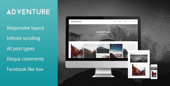 Adventure - Grid Responsive Tumblr Theme