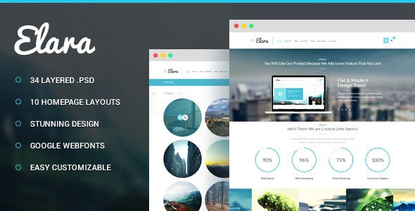 Elara - Multi-Purpose PSD Template - Corporate Photoshop