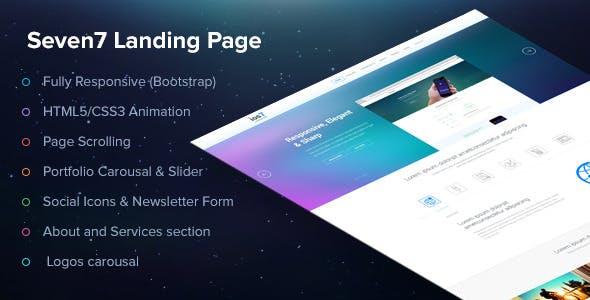 Seven7 Landing Page