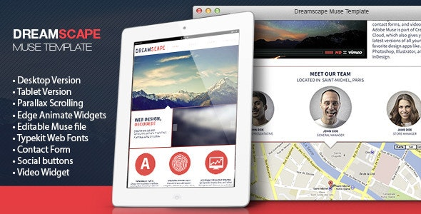 DreamScape Muse Template - Muse Templates