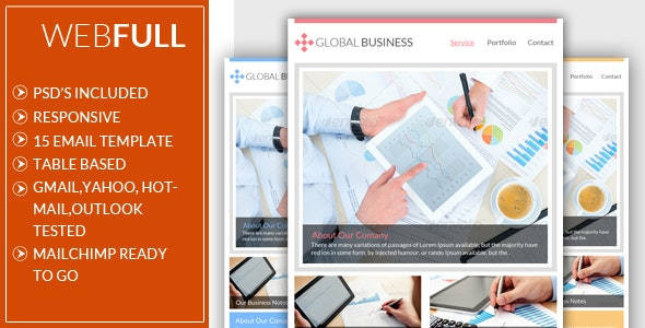 Global Business Email Template - Email Templates Marketing