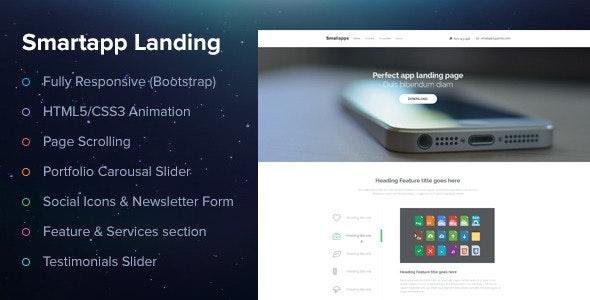 Smart App Landing Page - Creative Landing Pages