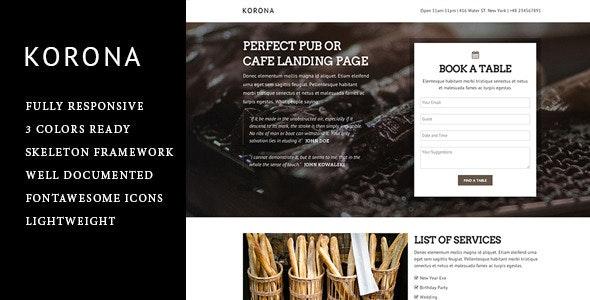 Korona - Entertainment HTML Template - Restaurants & Cafes Entertainment