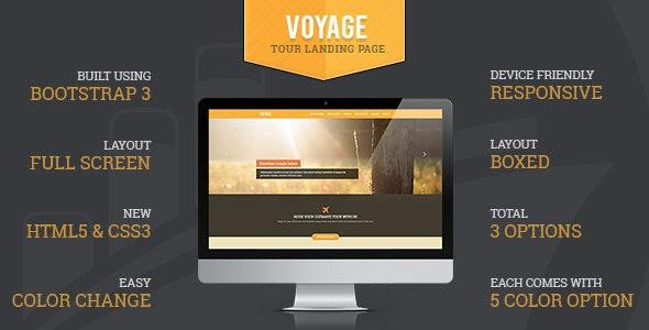 Voyage Tourism Responsive Landing Page - Travel Retail
