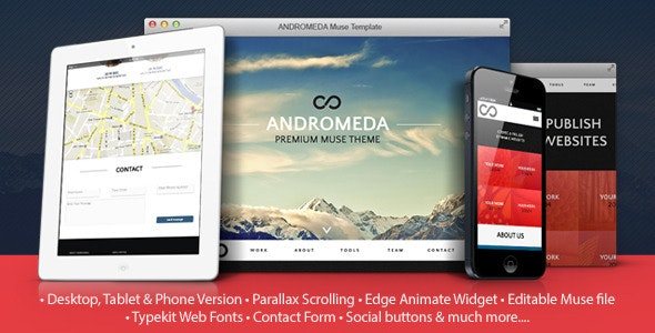 Andromeda Premium Muse Template - Muse Templates