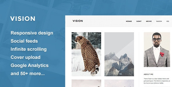 Vision - A Responsive Tumblr Theme - Blog Tumblr