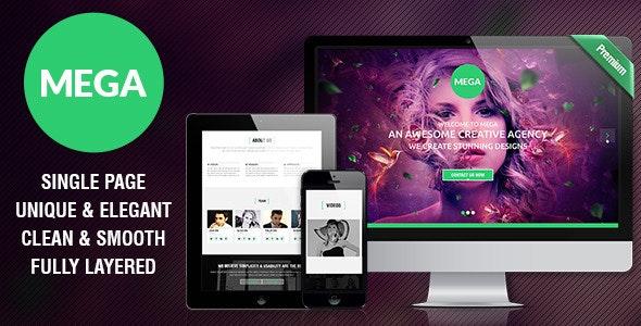 MEGA - Single Page Premium Theme - Corporate Photoshop