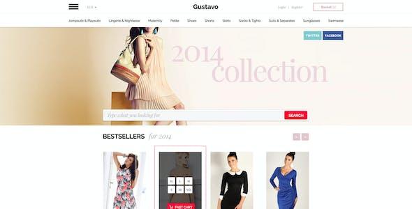 Gustavo - eCommerce PSD premium theme