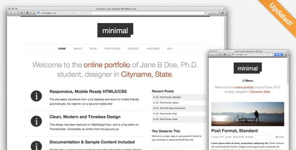 Minimal WordPress Portfolio - Portfolio Creative