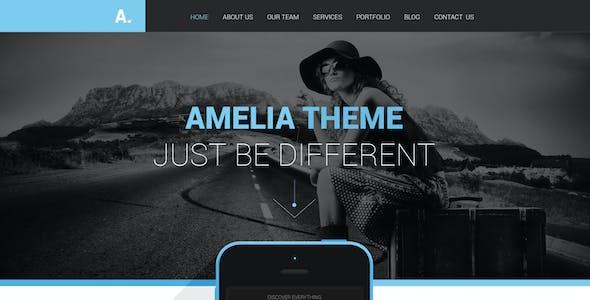 Amelia - One Page PSD Portfolio Template
