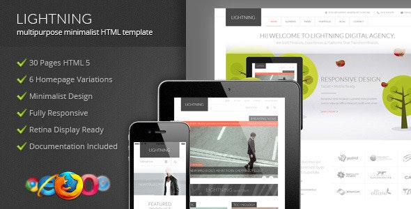 Lightning - Multipurpose Minimalist HTML Template - Corporate Site Templates