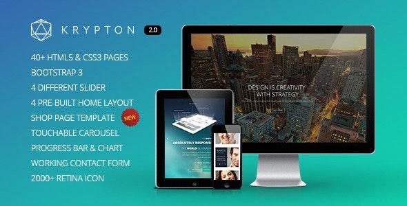 Krypton - Responsive Multipurpose HTML Template - Business Corporate