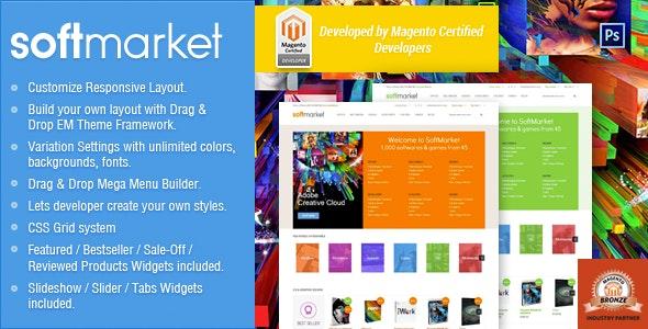 Responsive Magento Theme - Gala SoftwareMarket - Technology Magento