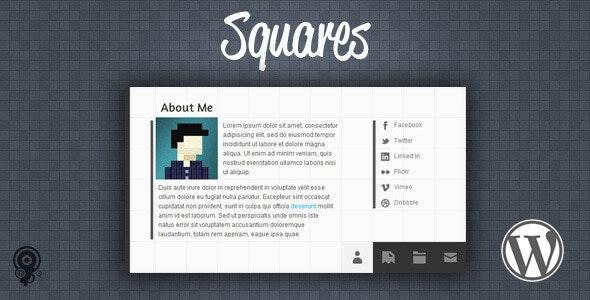 Squares - HTML5 vCard/Portfolio Wordpress Theme - Portfolio Creative