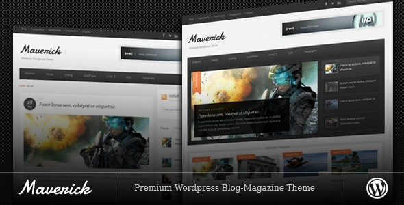 Maverick - Blog/Magazine Wordpress Theme - News / Editorial Blog / Magazine