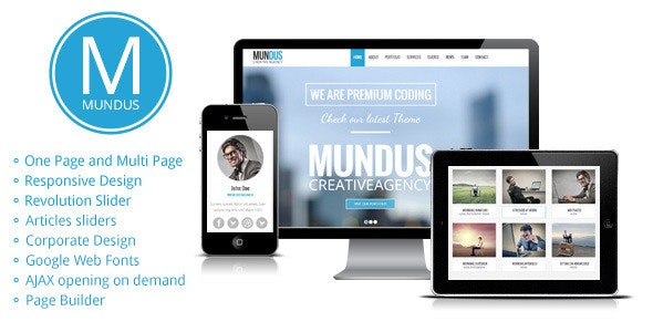 A Business One Page WordPress Theme By