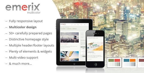 Emerix - Responsive HTML5 Template - Business Corporate