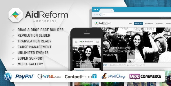 Aid Reform Ngo Donation And Charity Theme By Chimpstudio Themeforest