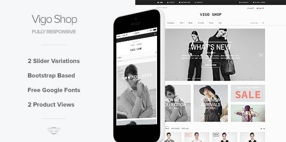 Vigo Shop - Responsive eCommerce Template - Corporate Site Templates