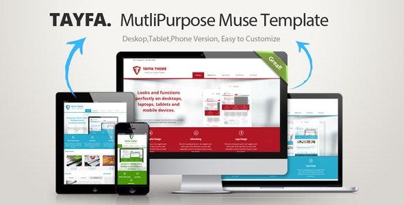 Tayfa Multipurpose Muse Template - Corporate Muse Templates