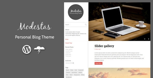 Modestas - Blog Theme / Personal Blogging - Personal Blog / Magazine