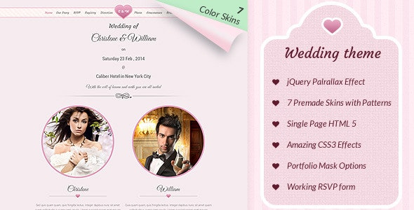 Wedding WordPress Theme - Wedding WordPress