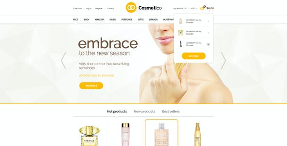 Cosmetico - Responsive OpenCart Template