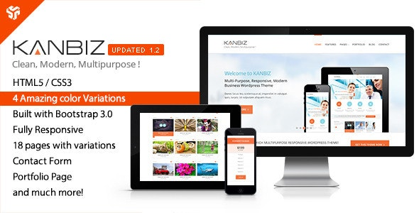 Kanbiz - Modern Multi-Purpose HTML Template - Corporate Site Templates
