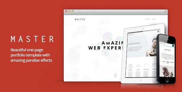 Master - Creative Portfolio Template - Creative Site Templates