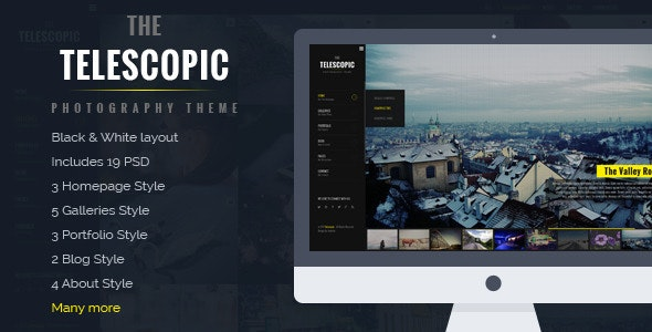 Telescopic - Fullscreen Photography PSD Template - Photography Creative