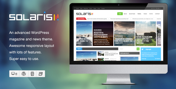 Solaris - Responsive WordPress Magazine Theme - Blog / Magazine WordPress